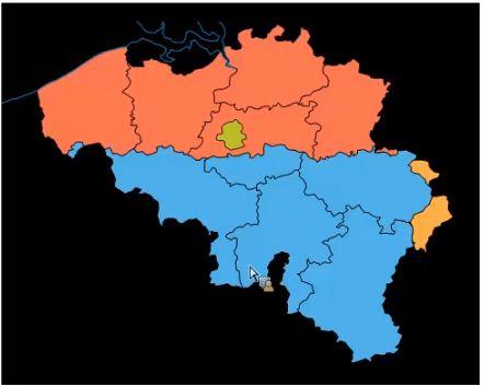 Region selon les langues